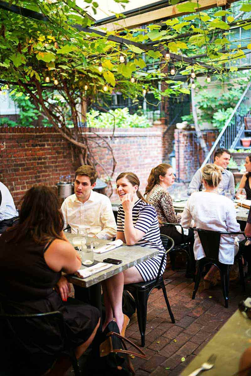 Outdoor patio at Iron Gate in Dupont Circle - Romantic restaurant in Washington, DC