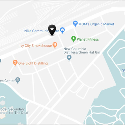 Map of Ivy City in Washington, DC - Guide to DC's Ivy City neighborhood