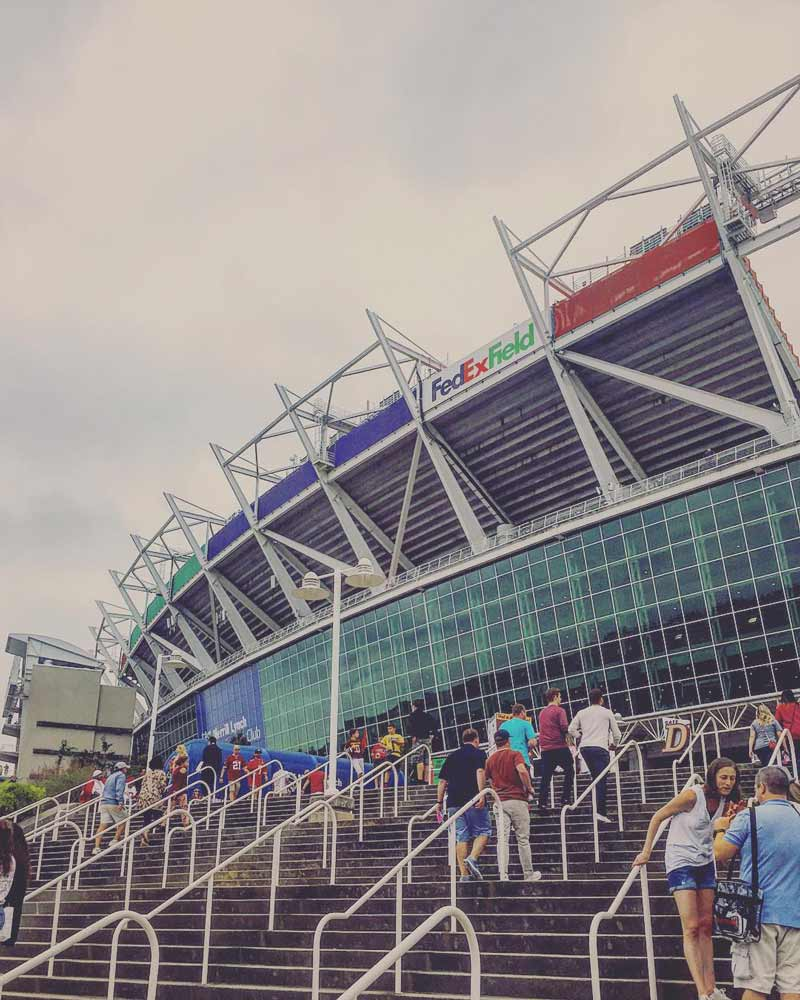 @jawlinedanny1984 - Fans entering FedExField - Sports venues near Washington, DC