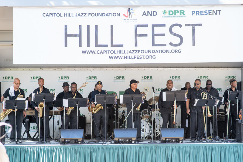 Jazz band performing at Hillfest on Capitol Hill - Free concert in Washington, DC