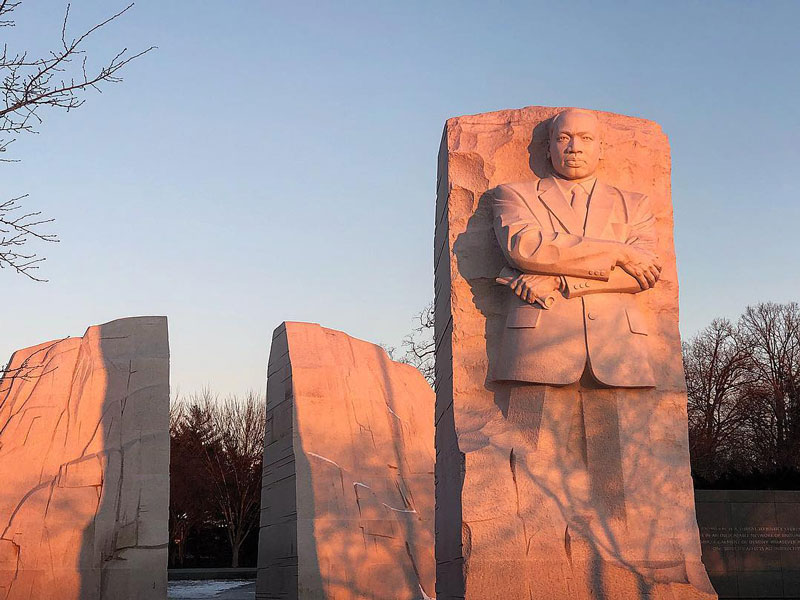 @jbano1 - Sunrise over the Martin Luther King, Jr. Memorial on the National Mall in Washington, DC