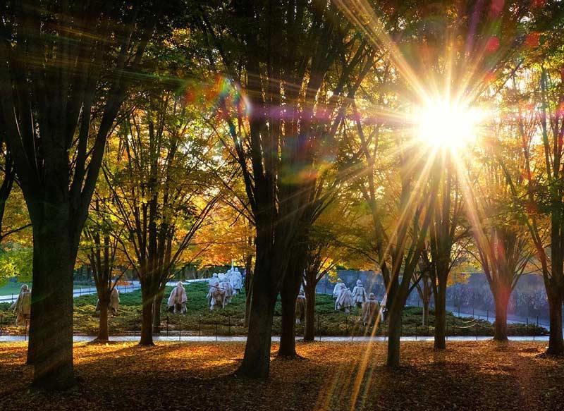 @jdavidake - Sunflare at the Korean War Veterans Memorial - War memorial in Washington, DC