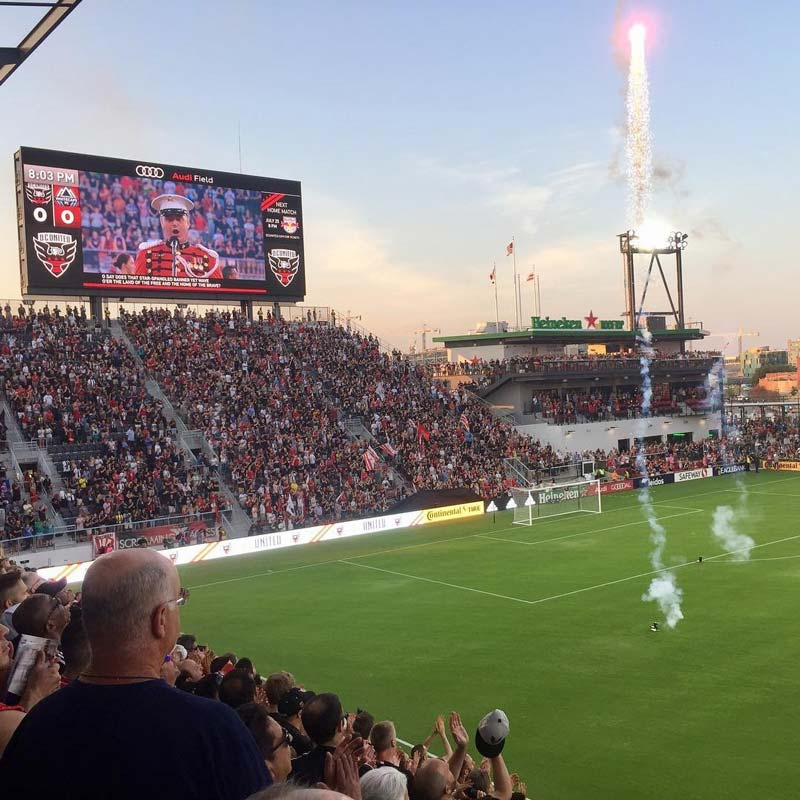 @jeffreardondc - Fireworks before D.C. United game at Audi Field - Activities and things to do in Washington, DC