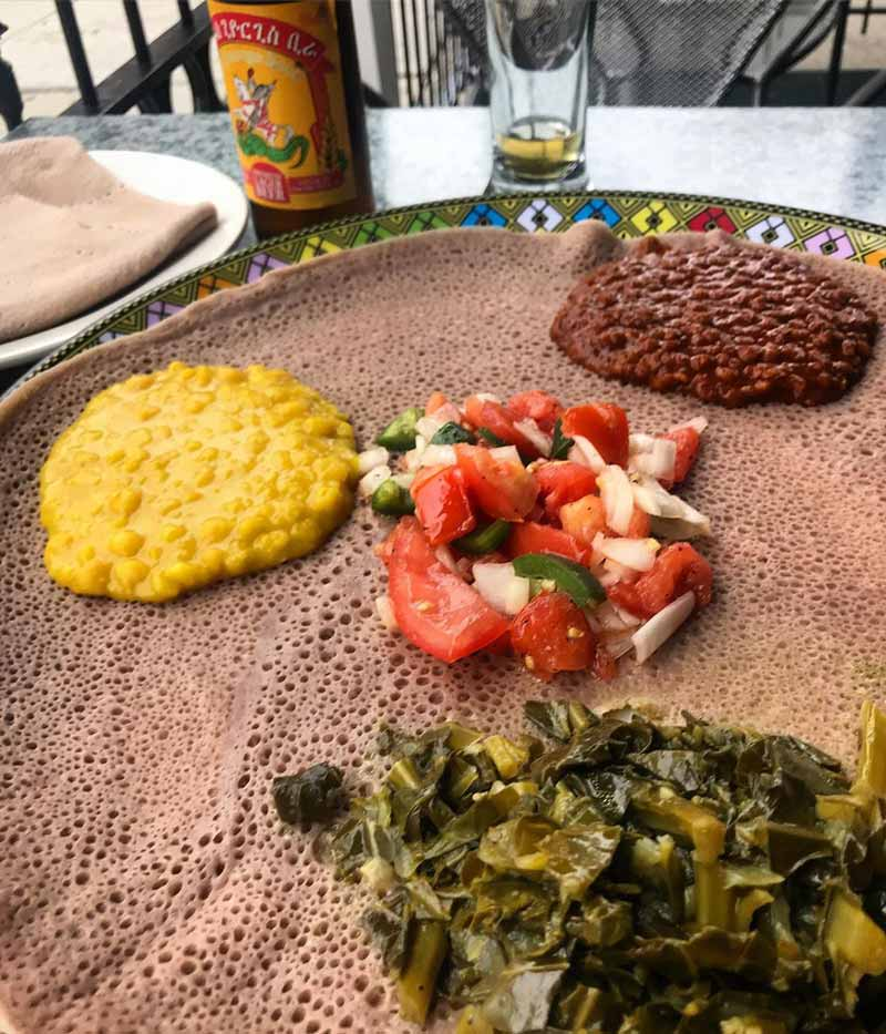 @jenniferannconrad - Meal from Dukem Ethiopian on U Street - Where to eat Ethiopian food in Washington, DC