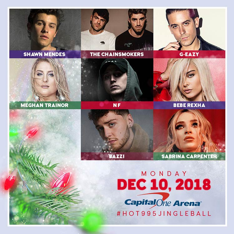 Hot 99.5's Jingle Ball at the Capital One Arena - December concerts in Washington, DC