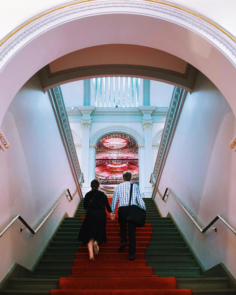 @johanna.hsu - Couple in Smithsonian American Art Museum's Renwick Gallery - Free art museum in Washington, DC