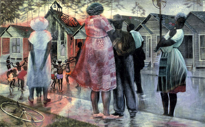 John Biggers, Shotgun, Third Ward #1, 1966 - Smithsonian American Art Museum
