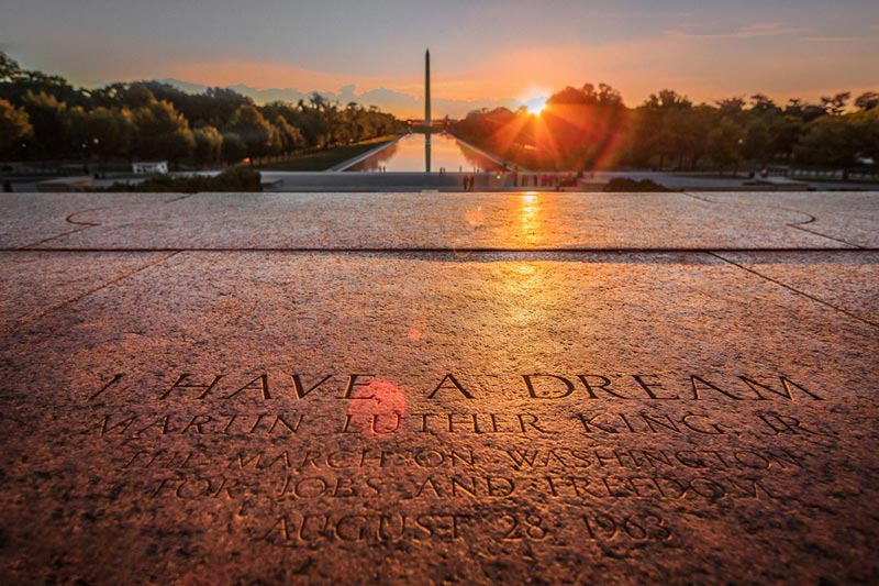 @jonlloydjr - Martin Luther King, Jr.'s 'I Have a Dream' speech steps at the Lincoln Memorial in Washington, DC
