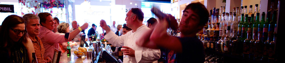 Chef José Andrés Bartending During Dine-N-Dash - Culinary Events in Washington, DC