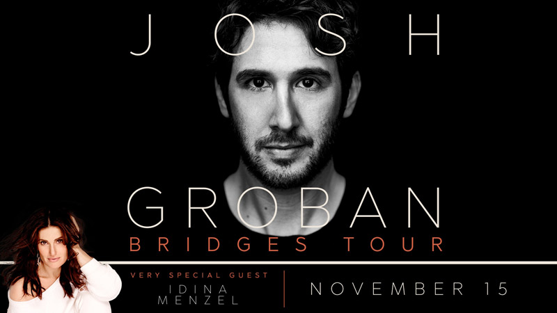 The Bridges Tour with Josh Groban with Idina Menzel - Things to do this November in Washington, DC