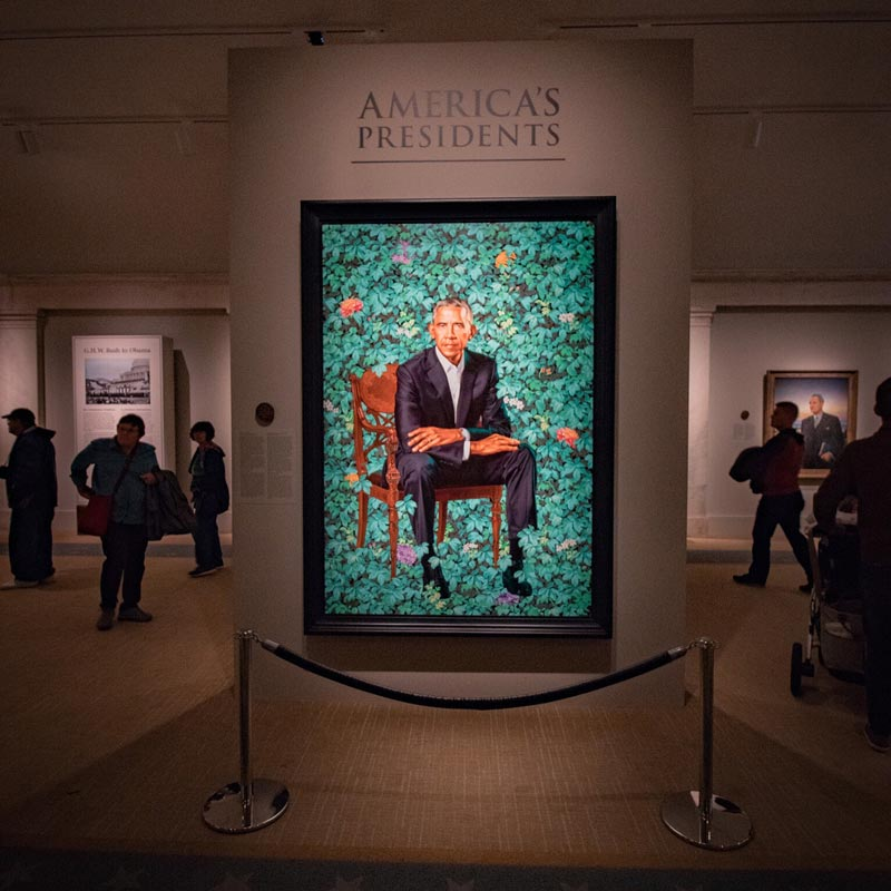 @jschliev - Barack Obama official portrait at Smithsonian National Portrait Gallery's America's Presidents Exhibit - Free museum in Washington, DC