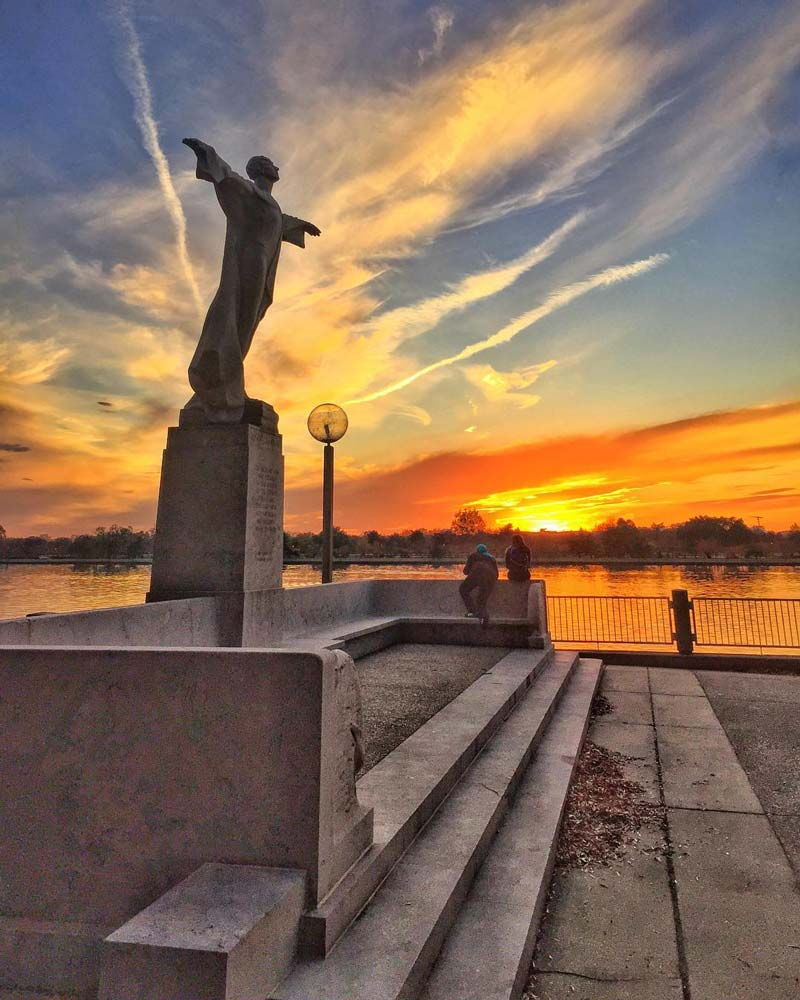 @justbartender - Sunset at the Titanic Memorial on the Southwest Waterfront - Unique sites in Washington, DC