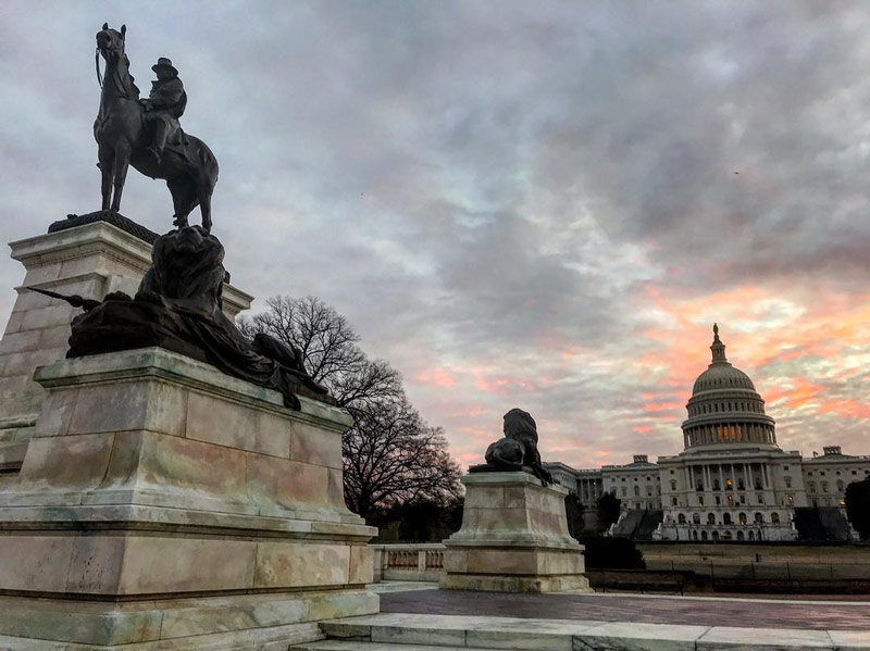@k2salomon - Ulysses S. Grant Memorial in front of U.S. Capitol - History and heritage sites in Washington, DC