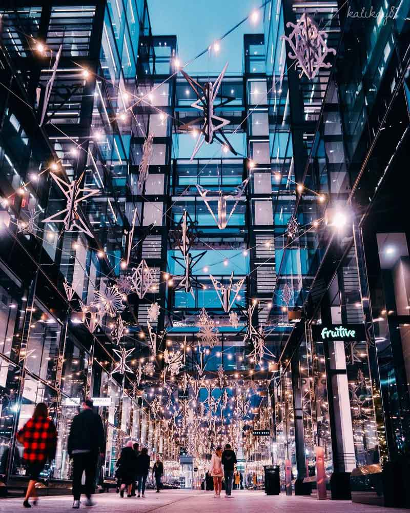 @kaliryanphotos - CityCenterDC holiday lights illuminated in Palmer Alley - Things to do during the holidays in Washington, DC