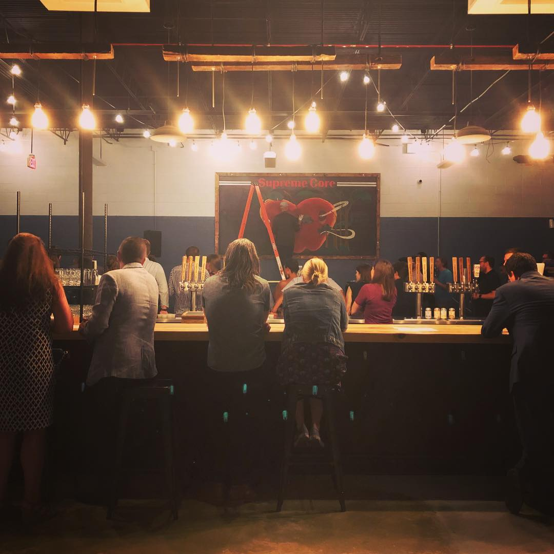 @katiexplores - Guests at Supreme Core Cider in Ivy City - Cidery in Washington, DC
