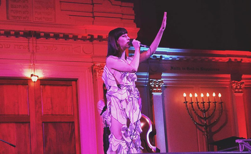 @kattieangelita - Concert performance at historic Sixth and I Synagogue - Things to do in Mount Vernon Square