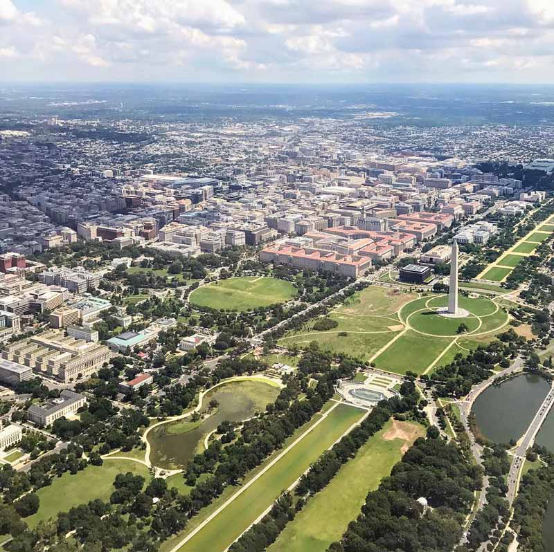 @kelseysocial - Aerial view of Washington, DC skyline - Best views of DC