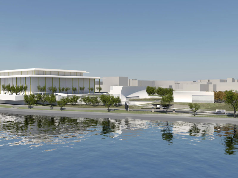 Rendering view of The REACH at the Kennedy Center from the Potomac River - The REACH in Washington, DC