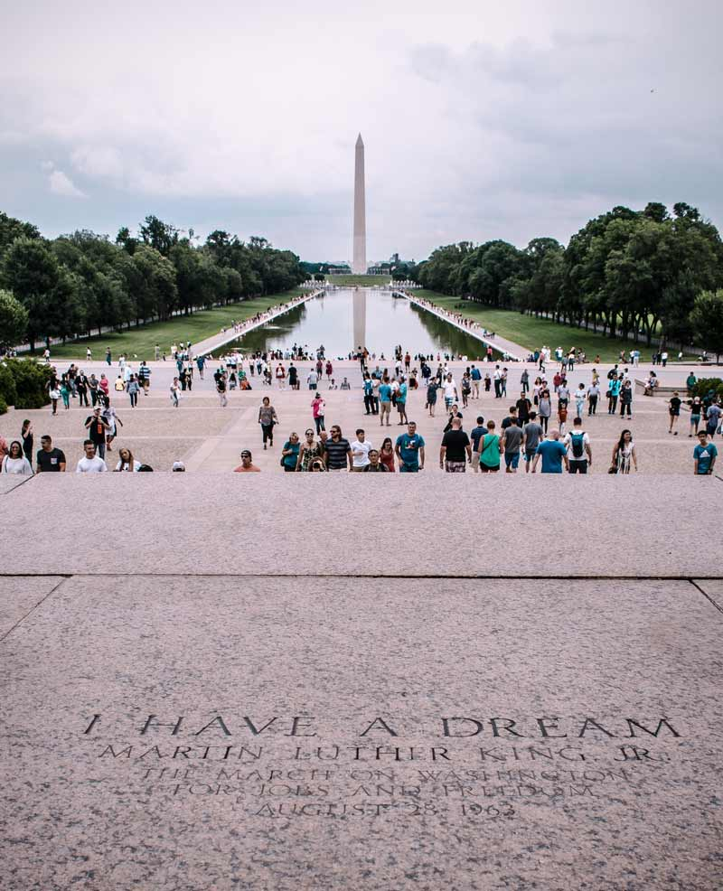@kevin.barata - 'I Have a Dream' Martin Luther King, Jr. steps on the Lincoln Memorial - African American history and culture sites in Washington, DC