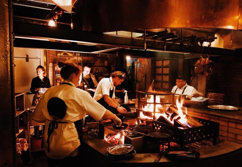 @kidcass - Open fire in kitchen at Maydan - The best restaurants in Washington, DC