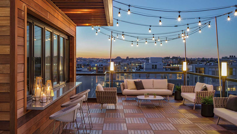 Rooftop at the Kimpton Mason and Rook Hotel - Outdoor meeting venues in Washington, DC