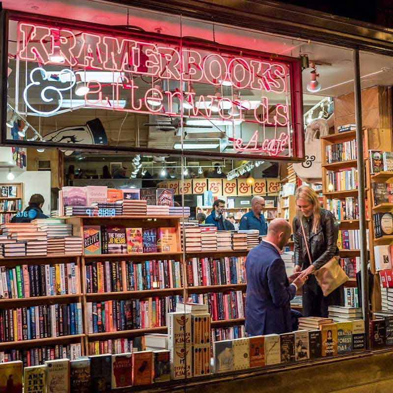 @kramerbooks - Marriage proposal at Kramerbooks & Afterwords Cafe - Local independent bookstore and restaurant in Washington, DC