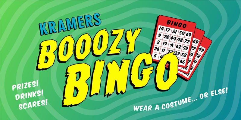 Halloween bingo at Kramerbooks and Afterwords Cafe - Halloween event in Washington, DC