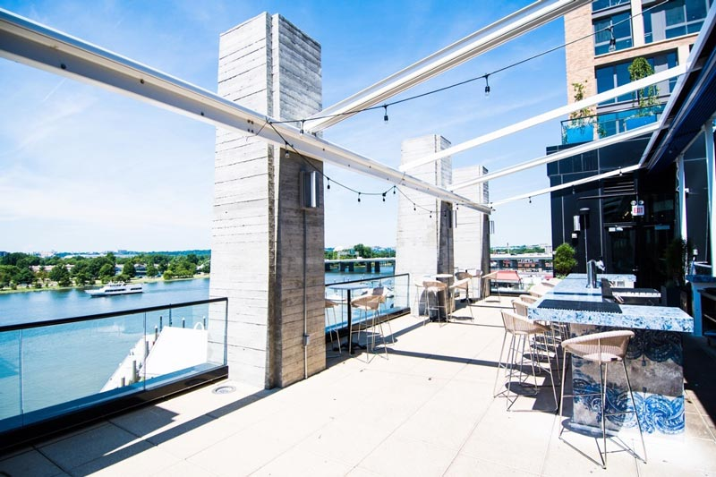 @lavie_dc - Rooftop terrace at La Vie restaurant at The Wharf - Washington, DC's best rooftop restaurants and bars