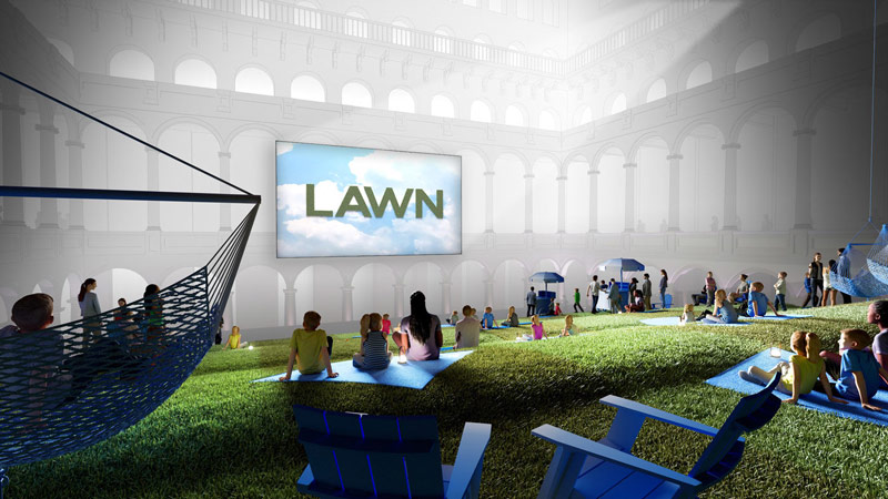 'The Lawn' summer museum exhibit in DC - The National Building Museum's Summer Block Party exhibit