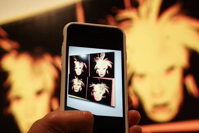 @llkoolwhip - Andy Warhol's Digital Self Portrait at the National Gallery of Art - Modern art museum in Washington, DC