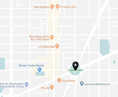 Logan circle neighborhood map