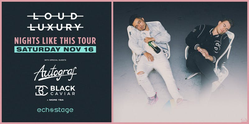 Loud Luxury concert at Echostage this November in Washington, DC