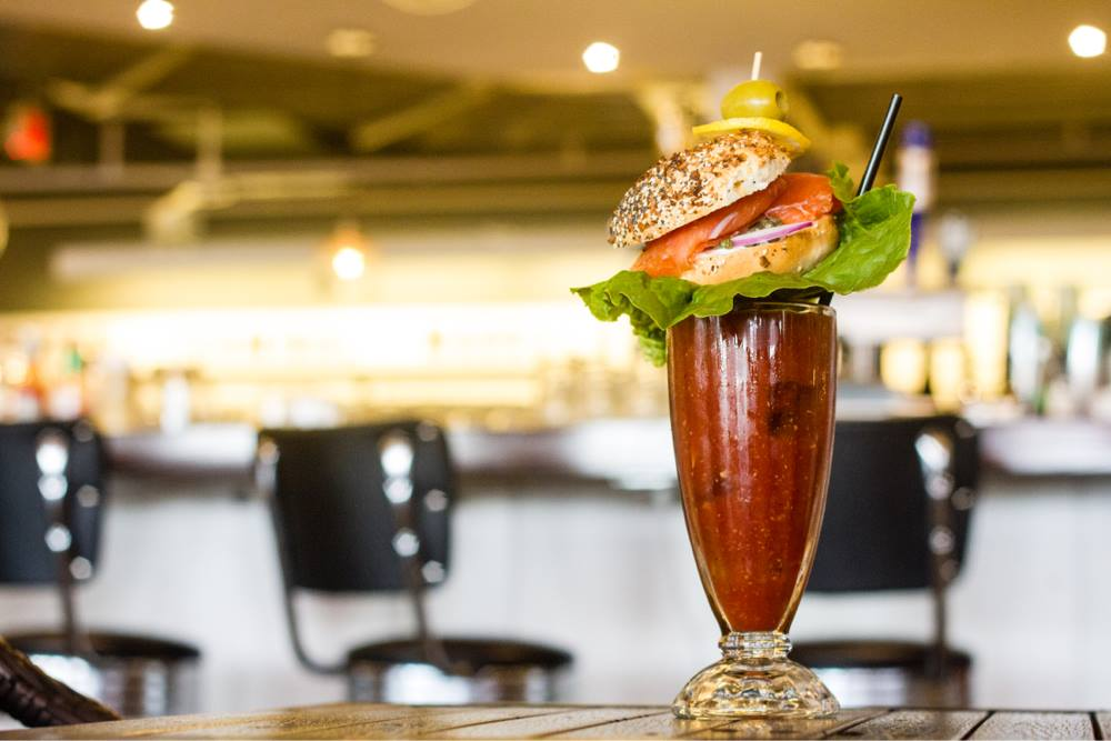 Lox'd and Loaded bloody mary at Buffalo and Bergen - Where to eat and drink at DC's Union Market food hall