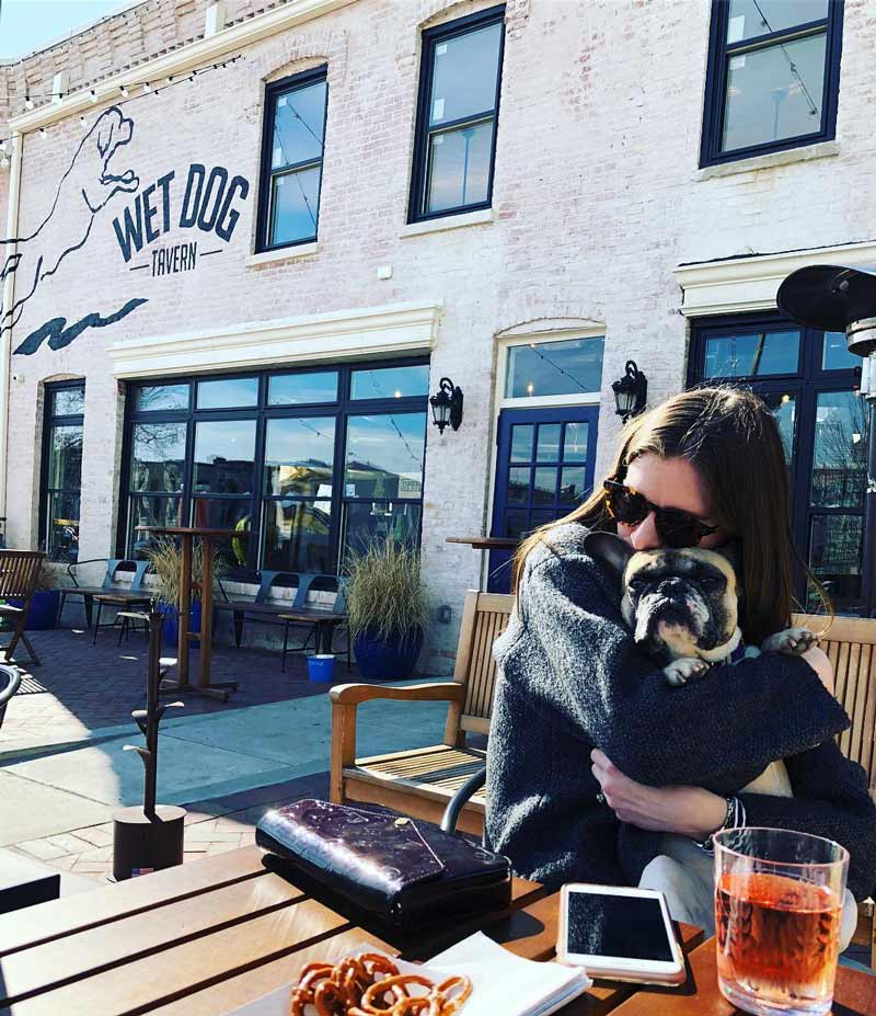 @luna_thefrenchie51114 - Dog outside at Wet Dog Tavern near Shaw and U Street - Outdoor beer garden in Washington, DC
