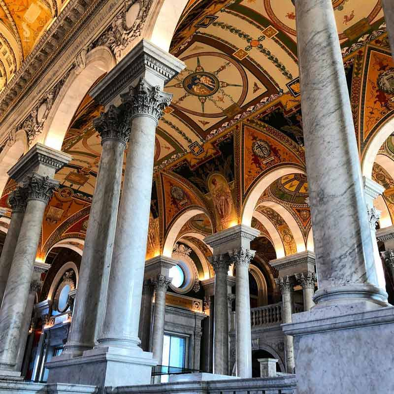 @m_schellin - The Library of Congress Thomas Jefferson Building - Free historic attractions in Washington, DC
