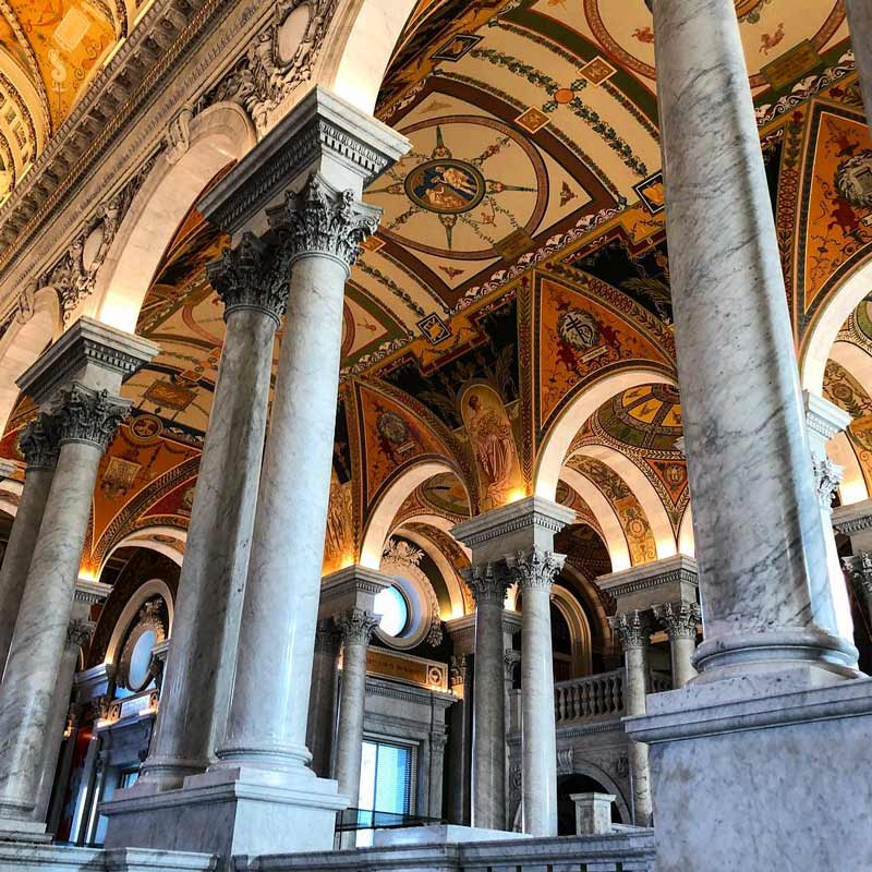 @m_schellin - Thomas Jefferson Building Great Hall at the Library of Congress - Free Attraction in Washington, DC