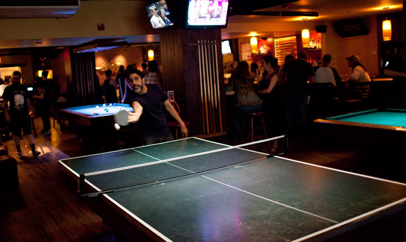 Playing ping pong at Breadsoda - Bars and restaurants where you can play ping pong in Washington, DC