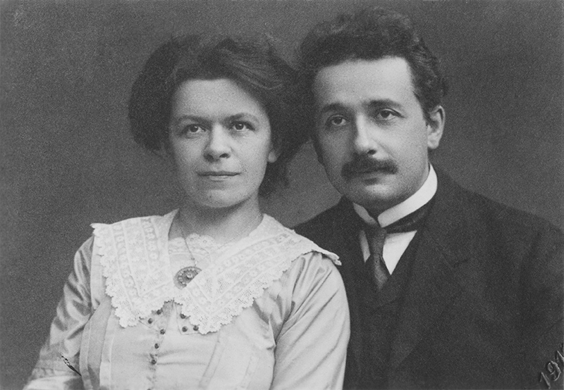 Einstein and his wife, Mileva Maric play at ExPats theatre in DC