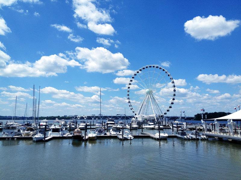 Boat marina at National Harbor - Waterfronts near Washington, DC