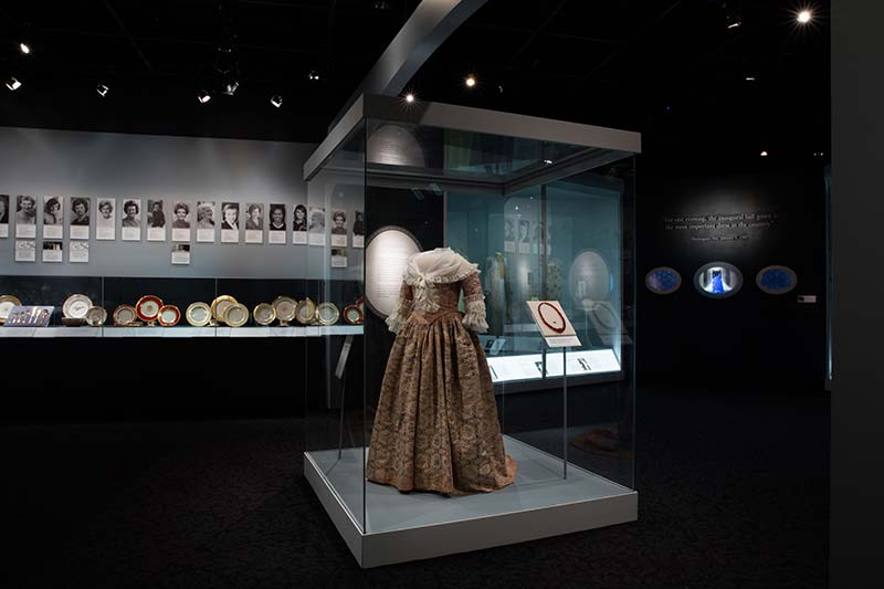 Martha Washington's Gown in the First Ladies Exhibit at the Smithsonian National Museum of American History - Free Museum on the National Mall