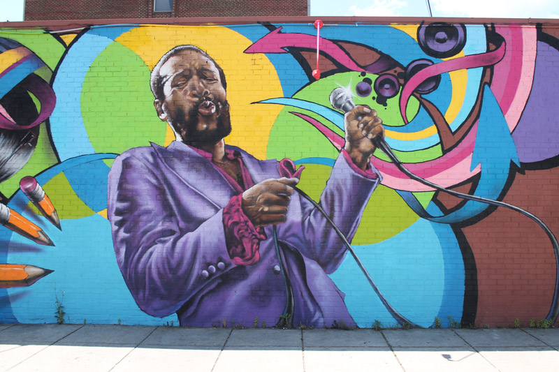 Marvin Gaye Mural in Shaw - Murals in Washington, DC