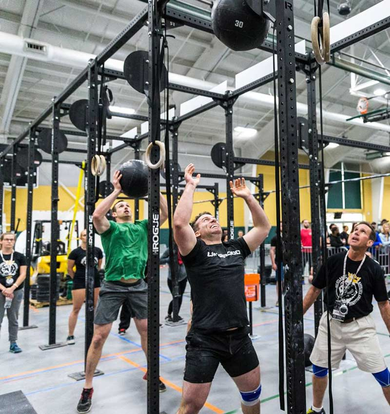 Competitors at the Mid-Atlantic CrossFit Challenge - April events in Washington, DC