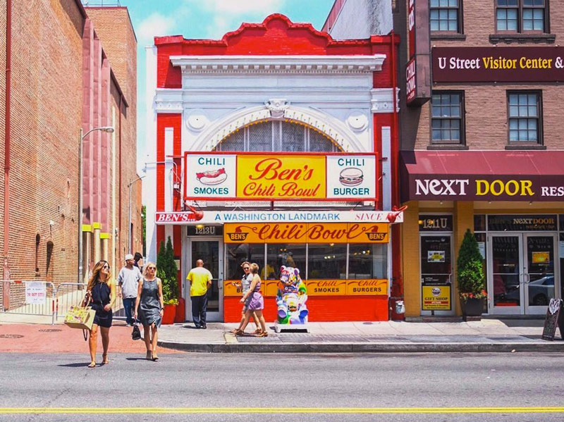 @millgrimage - People crossing U Street in front of Ben's Chili Bowl on summer day - Neighborhoods in Washington, DC
