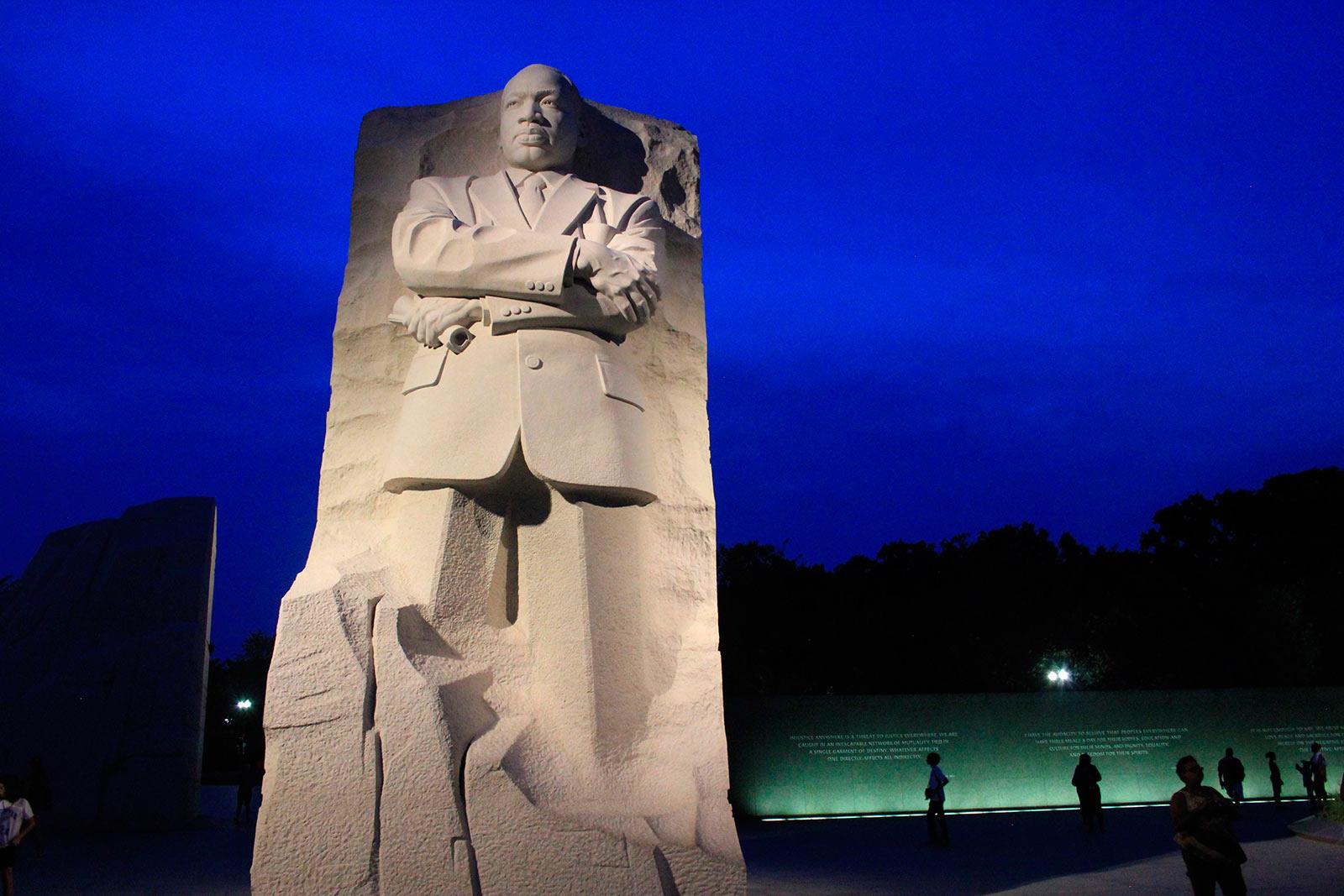 MLK Memorial at Night - National Mall - Washington, DC