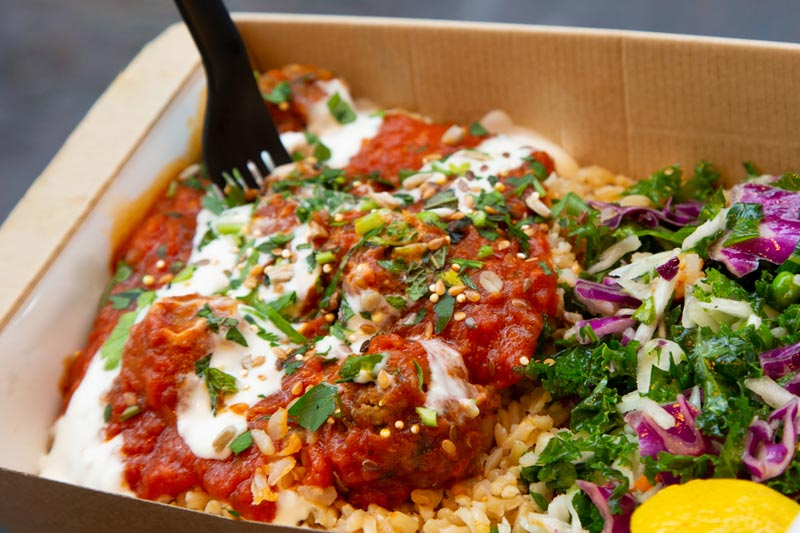 Moroccan meatballs dish from LEON - Fast casual budget-friendly restaurant in Washington, DC