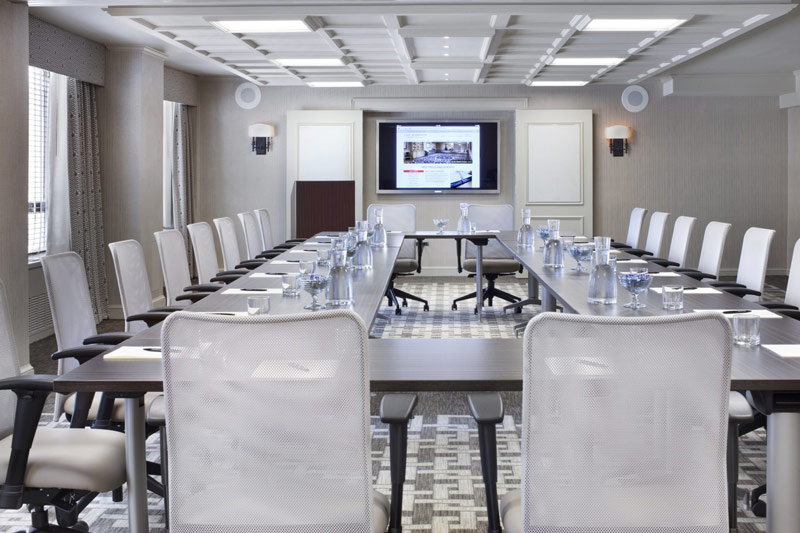 Mount Vernon boardroom at The Madison Washington DC, A Hilton Hotel - Meeting space with natural light in Washington, DC