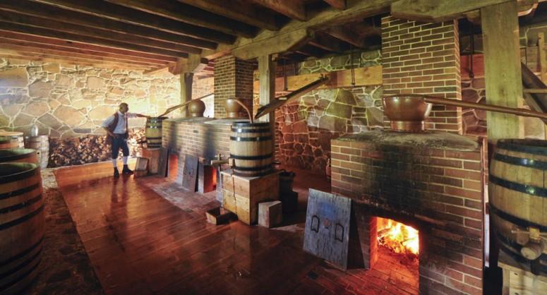 The distillery at George Washington's Mount Vernon - Historic site at George Washington's estate near Washington, DC