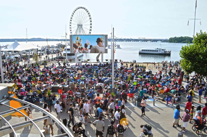 Movies on the Potomac at National Harbor in Maryland - Outdoor Summer Movie Series Near Washington, DC