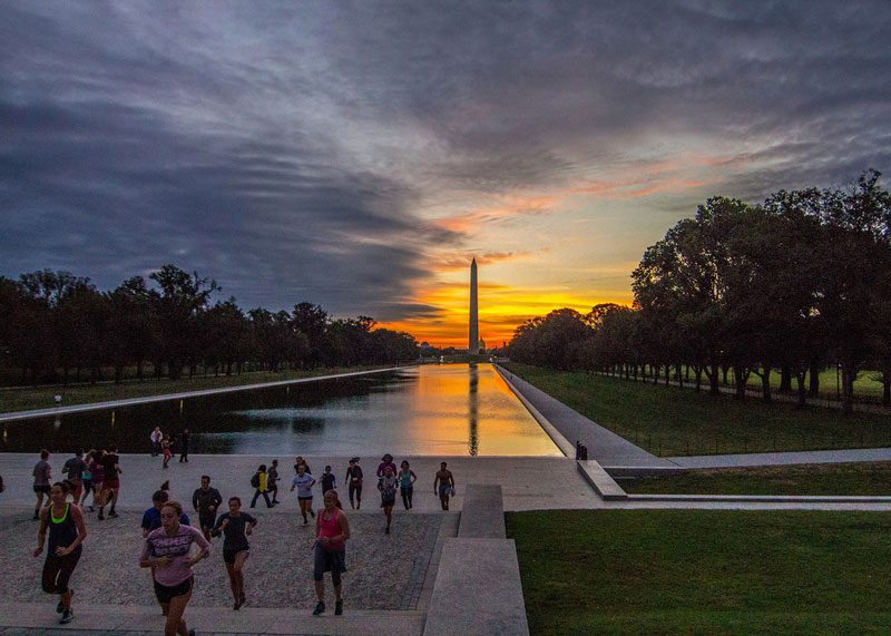 Free November Project workout on the National Mall - Free outdoor activities in Washington, DC