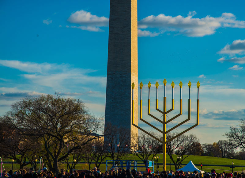 National Menorah on the National Mall in Washington, DC - Free things to do this winter in Washington, DC